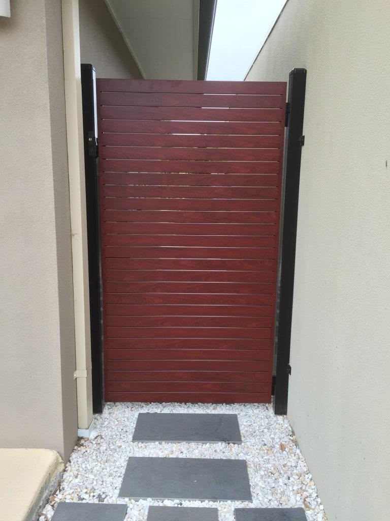 Aliscreen aluminium slat fence gate 4