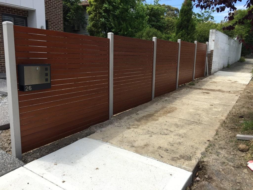 Aliscreen aluminium slat fence gate 5