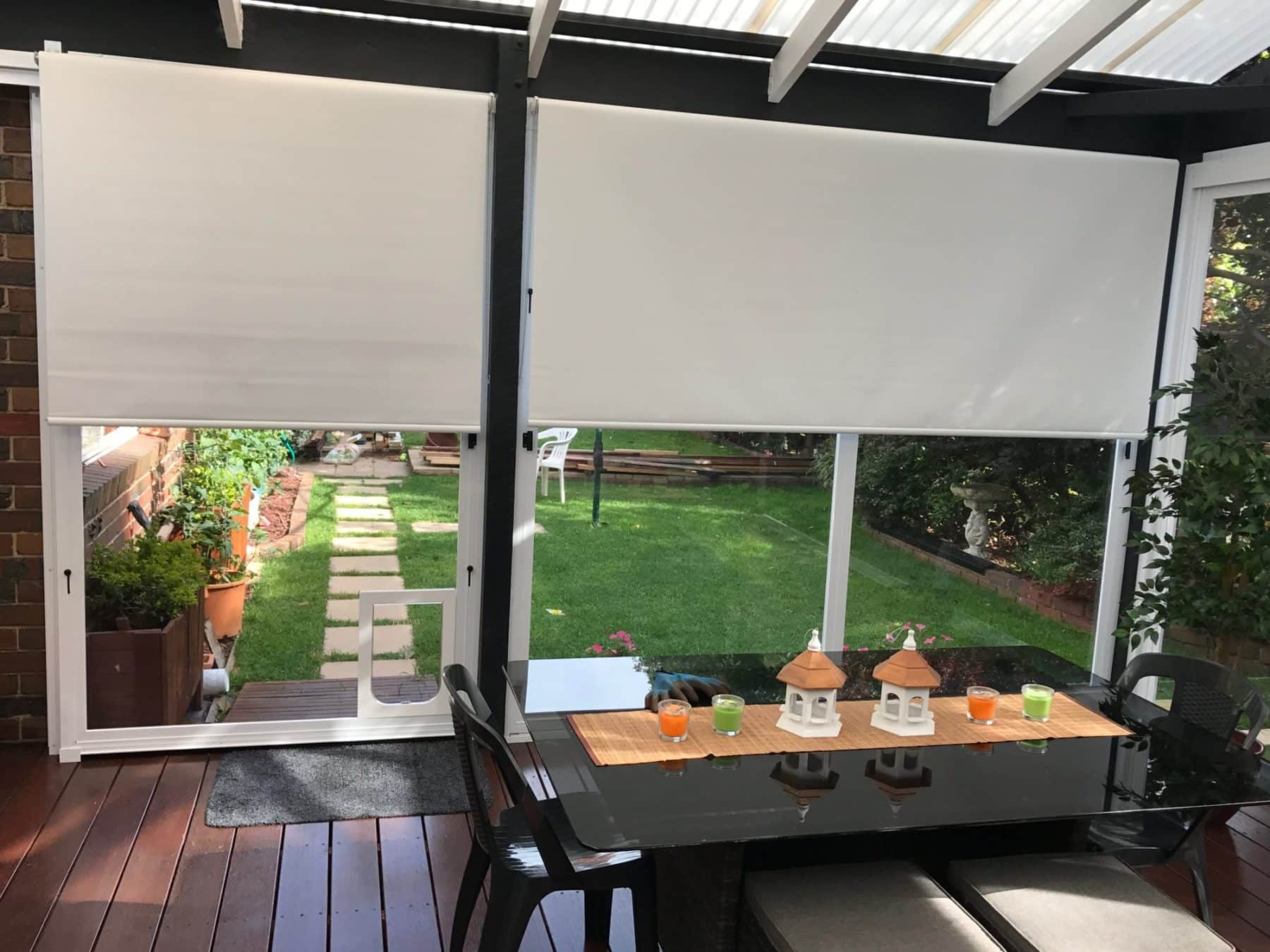 Enclose your outdoor space with PVC Café Blind
